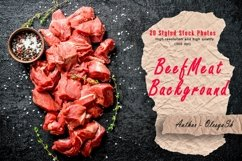 20 Photos Cut raw beef with spices. Raw beef background Product Image 1