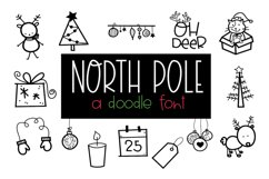 North Pole - A Christmas / Winter Doodles Font Product Image 1