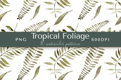 Tropical Foliage Watercolor Patterns Product Image 6