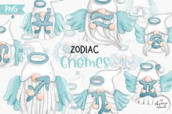 Zodiac Gnomes Clipart, Angel Gnomes Zodiac Product Image 1