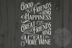 Great Friends Bring More Wine, Wine, SVG DXF PNG, Cutting File, Printable Product Image 1