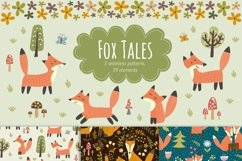 Fox Tales: patterns & clipart Product Image 1