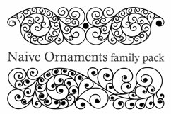 Naive Ornaments Family Pack (seven fonts) Product Image 3