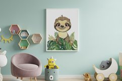 Set of 6 Safari Animal. Nursery Wall Decor. Tropical Animals Product Image 4