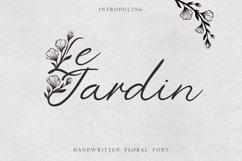 'Le Jardin' Floral Font Product Image 1