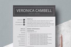 Resume | CV Template Cover Letter - Veronica Cambell Product Image 1