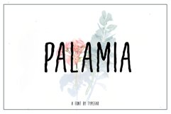 Palamia Handwritten Font Product Image 1