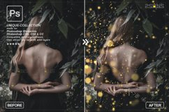 Christmas string light overlay, Fairy bokeh overlay Product Image 3