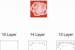 Layered Mandala SVG, Cut file Mandala, Layered Flower, Rose Product Image 8
