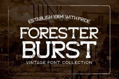 Web Font Forester Family Product Image 1