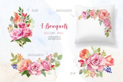 Watercolor Summer Flowers Clipart Product Image 2