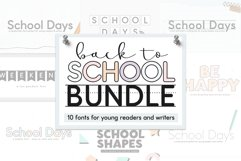 School Font Bundle - Easy to Read and Trace Fonts Product Image 1