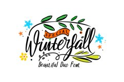 Winterfall Duo Font Product Image 1