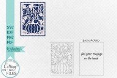 Fall Thanksgiving card papercut svg laser cut cricut file Product Image 2