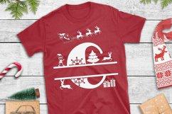 Christmas Monogram Alphabet   Christmas Split Letters Product Image 3