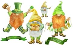 St Patricks Day Gnomes Sublimation designs downloads. Product Image 2