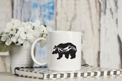 Bear Silhouette with Mountain Scenic- svg, png, dxf, jpg Product Image 3