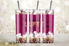 Nurse life burgundy tumbler wrap floral sublimate design png Product Image 1