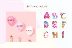 Sweet alphabet. Watercolor letter Product Image 2