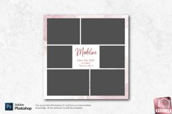 12x12 Newborn Photo Collage Template Product Image 3
