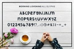 Morning Lovening | Cute Display Font Product Image 3