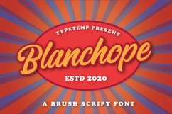 Blanchope Font Product Image 1