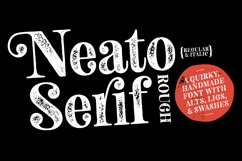 Neato Serif Rough Font Family Product Image 1