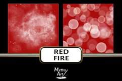 Red Fire - 10 Digital Papers/Backgrounds Product Image 5