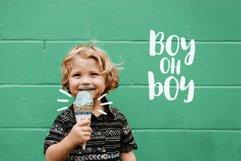 August Boy - Modern, bold, brush font  dingbat clipart Product Image 4