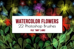 Flowers and leaves Photoshop Brushes Product Image 4