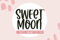 Web Font Sweet Moon - A Quirky Handwritten Font Product Image 1