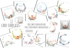 Cute forest Animals. Patterns + Wreaths Product Image 5