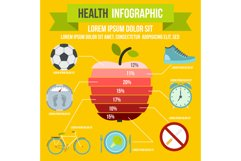Health infographic, flat style Product Image 1