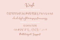 Wish - a Handwritten Script Font