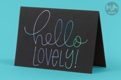 Hello Lovely - single line for foil quill & sketch pen! Product Image 2
