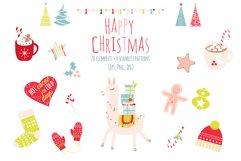 Lama Christmas set, Scandi style Product Image 1