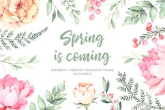 Spring is coming. Watercolor set Product Image 1