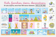 Kids and Families vector art Product Image 6