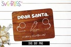 Santa Cookie Board SVG- Dear Santa Merry Christmas Cut File Product Image 1