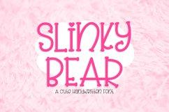 Slinky Bear - a cute handwritten font Product Image 1