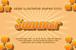 5 Summer Text Effect Graphic Styles Vector Product Image 3