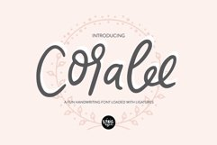CORALEE a Bouncy Handwriting Script Font with Ligatures Product Image 1