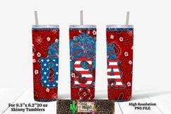 20oz Skinny Tumbler Patriotic USA July 4th Dye Sublimation S Product Image 2