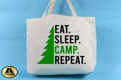 Camping SVG PNG EPS DXF Eat Sleep Camp Repeat SVG Camper SVG Product Image 2