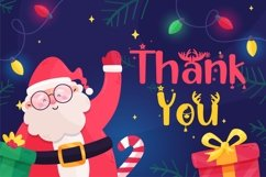 Happy Christmas Party - Xmas Font Product Image 5