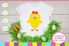 Easter Chick, Chick Split Monogram, SVG, DXF, PNG Product Image 2