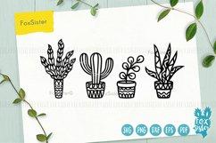 Plants svg bundle, House plants svg, succulents cut file Product Image 2