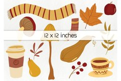 Hand drawn fall elements - autumn clipart, woodland elements Product Image 5