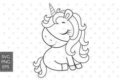 Cute unicorn SVG, EPS, PNG, 300 DPI Product Image 1