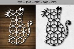 Cat Laser and Paper Cut Template Design Product Image 1